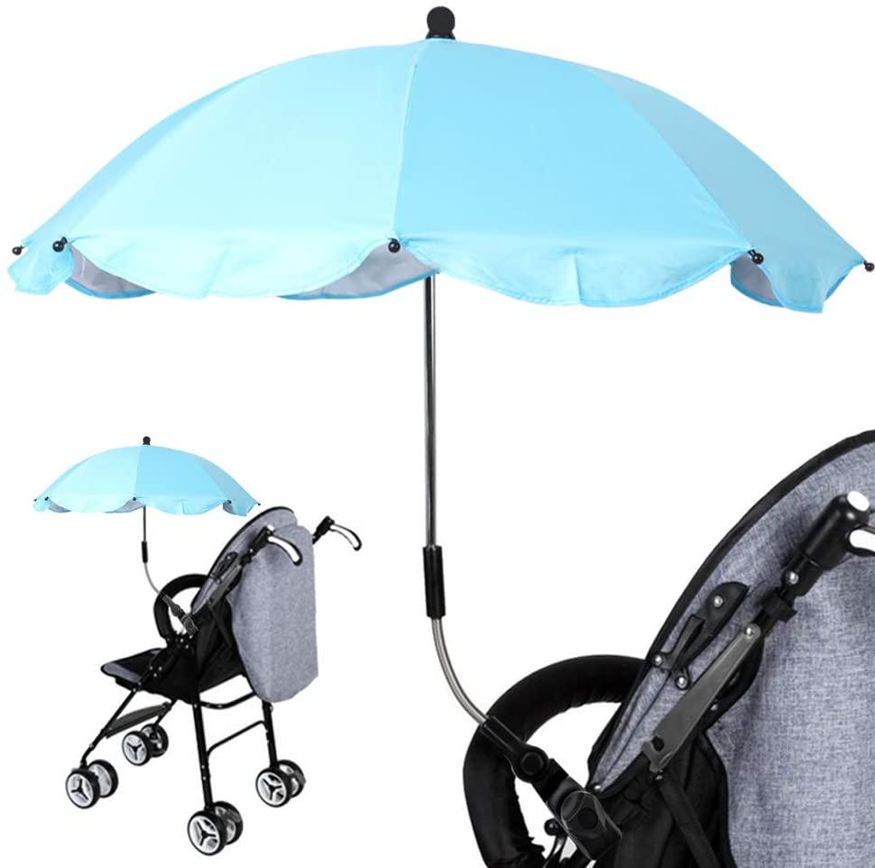 JackFum Baby Stroller Umbrella Holder Lightweight Foldable Wheelchair Pushchair Parasol for Sun Shade, Rainproof, Windproof