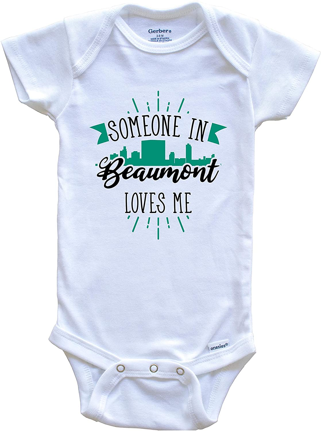 Someone in Beaumont Loves Me Beaumont TX Skyline Baby Onesie