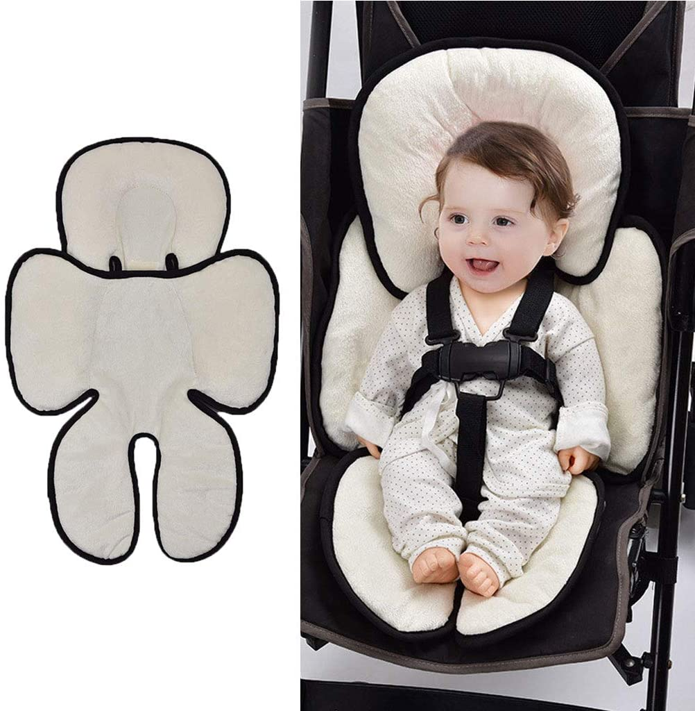 YU-NIYUT Baby Stroller Cotton Seat Cushion Warm Car Seat Pad Sleeping Mattresses Pillow Universal Padding Liner for Babies, Newborns, Infants, and Toddlers