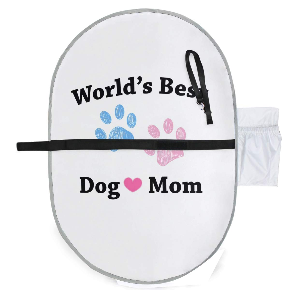 ZZXXB World's Best Dog Mom Baby Portable Changing Pad Waterproof Diaper Change Mat Large for Infant Quick Change