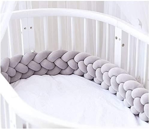 RedSuns Baby Crib Bumper 4 Braided cot Gift Pillow Cushion Nursery Cradle Decor Gift Pillow Cushion Nursery(9.8 feet 3M)