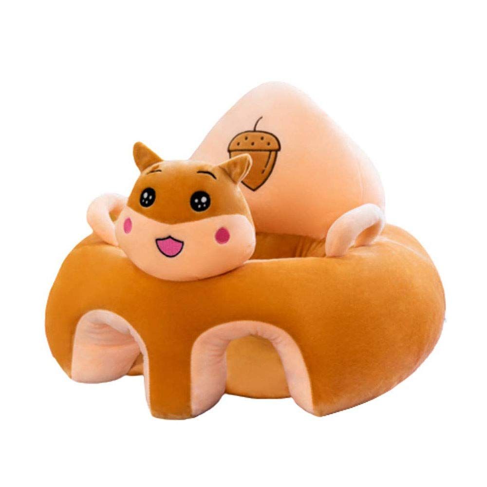 Baby Sofa Chair, Infant Support Seat Plush Baby Learning Sitting Chair Portable Soft Animal Shaped Chair for Newborn 3-16 Months