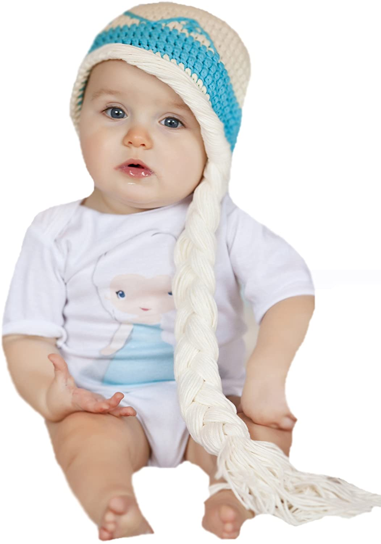 Melondipity's Icey Baby Princess Crochet Winter Hat 100% Cotton Baby Girls, Toddler Girls, Big Girls