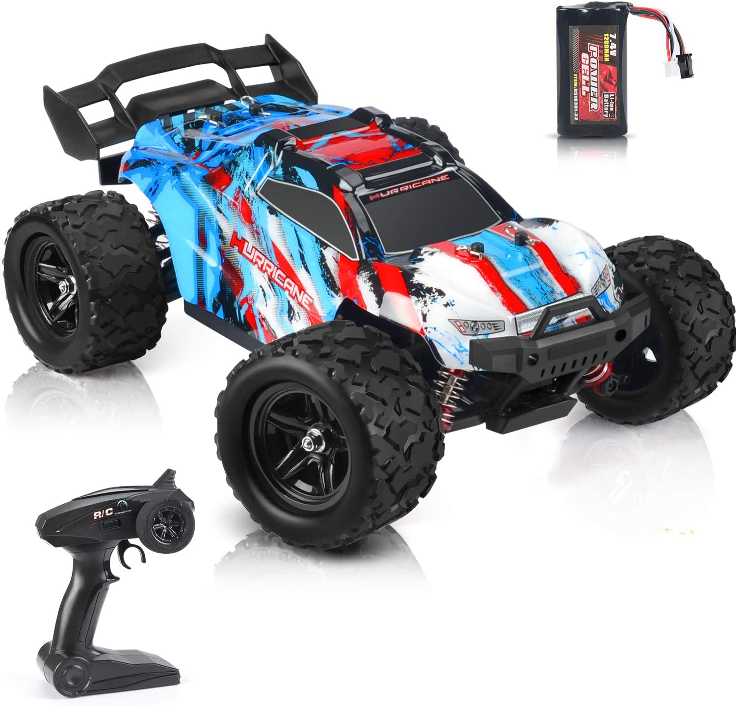 kolegend RC Car Remote Control Car 40 km/h RTR RC Monster Truck 1200 mah Rechargable Battery 4WD for Adults & Kids (Red)