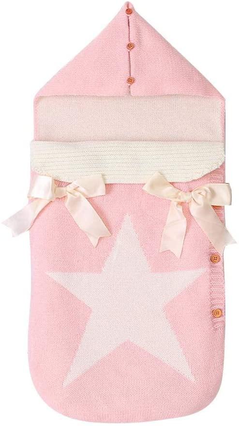 Baby Swaddle Blanket Wrap Newborn Sleeping Bag Warm Knitted Fleece Stroller Wrap Infant Swaddle Wra p for Unisex Baby Shower Gift