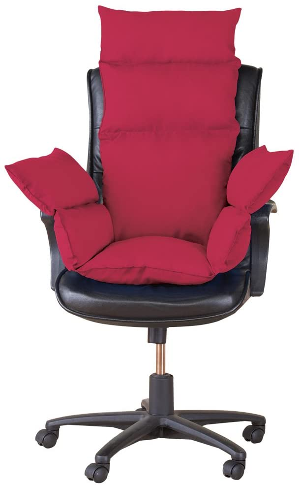 Extra Support Cozy Chair Cushion, Burgundy