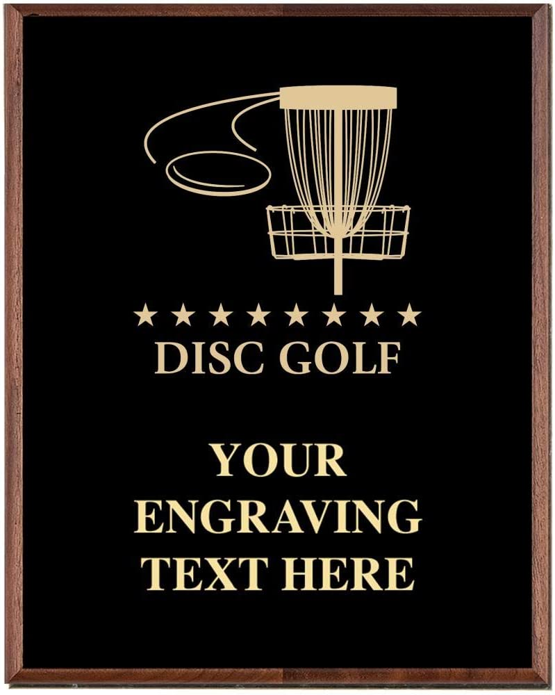 Disc Golf Plaques, Custom Engraved Disc Golf Trophy Plaque Award, Great Customizable Disc Golf Gift