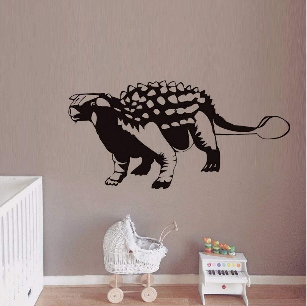 dsajgker Animal Ankylosaurus Wall Sticker for Kids Rooms Dinosaur Adhesive Vinyl Removable Hollow Out Wall Art Stickers Decals Home Decor 88 43Cm