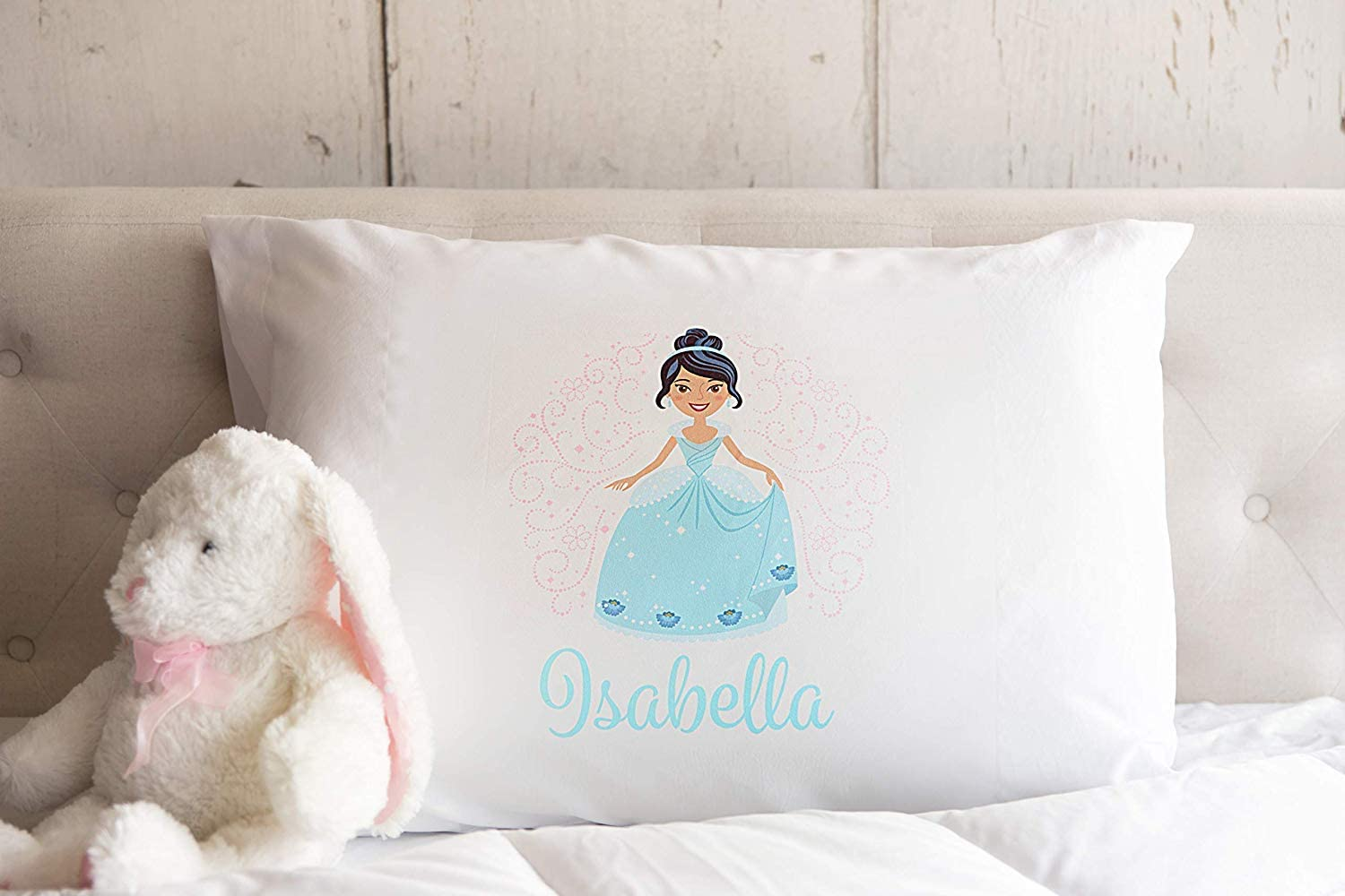 Qualtry Personalized Gifts for Toddler Kids, Boys and Girls (Princess Isabella Design) - Unique Customized Pillow Cases, Standard Size 21