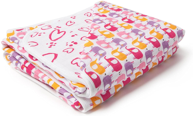 Zutano Cotton Muslin Four Layer Zzz Blanket, 47