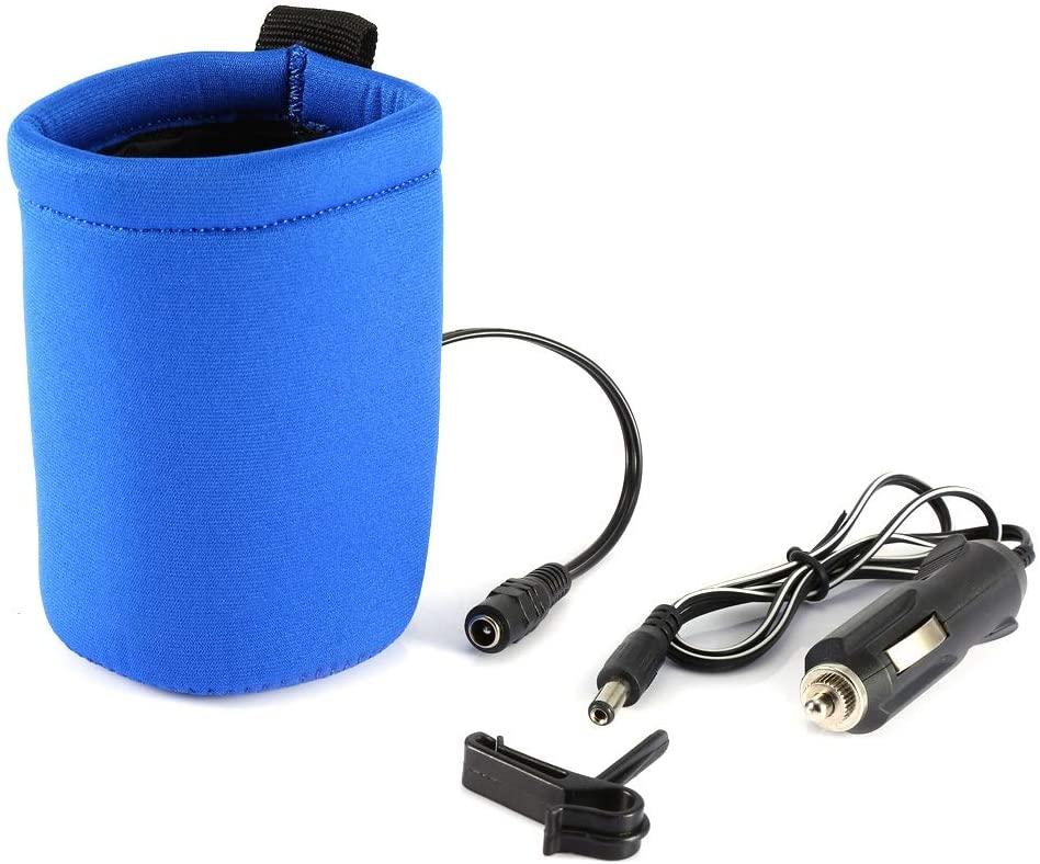 Jadeshay Baby Bottle Warmer - Portable Travel Car Milk Water Bottle Cup Warmer Heater Pouch,12V