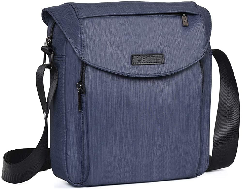 OSOCE Shoulder Bag, Crossbody Bags with Adjustable Strap, Messenger Bag with Zipper Handbag Purse for Men and Women