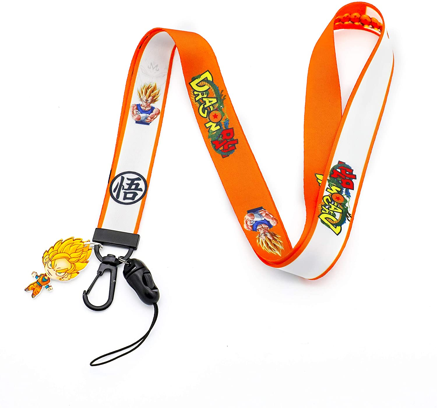 New Set Dragon Ball Lanyard Keychain Dragonball Goku ID Bage Holder(Dragonball 5)