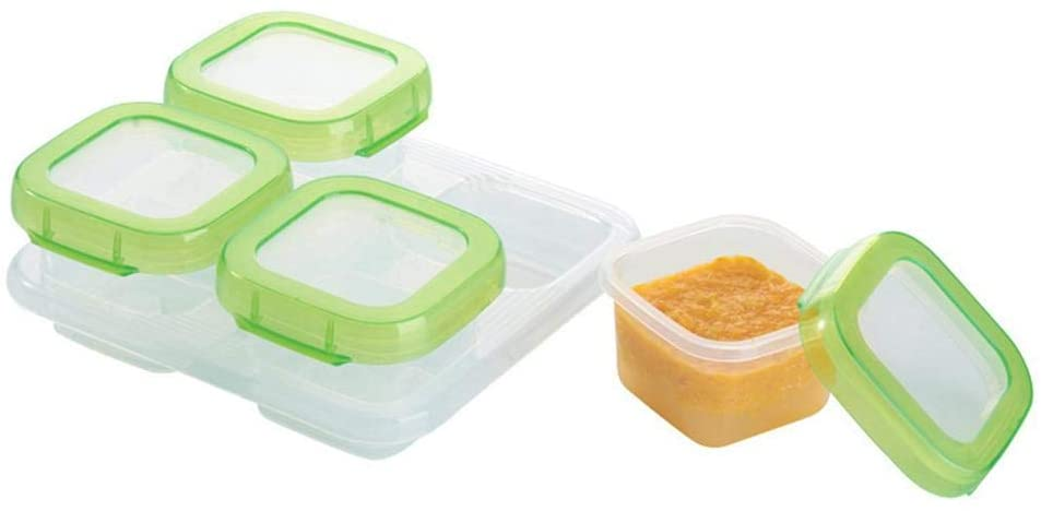 Window-pick 6/4Pieces 60ml/120ml Food-Grade Baby Food Storage Containers Box with Lids,Nutritious Food Mix Convenient Storage and Sorting with Lids for Kids and Toddlers, Leakproof and Airtight