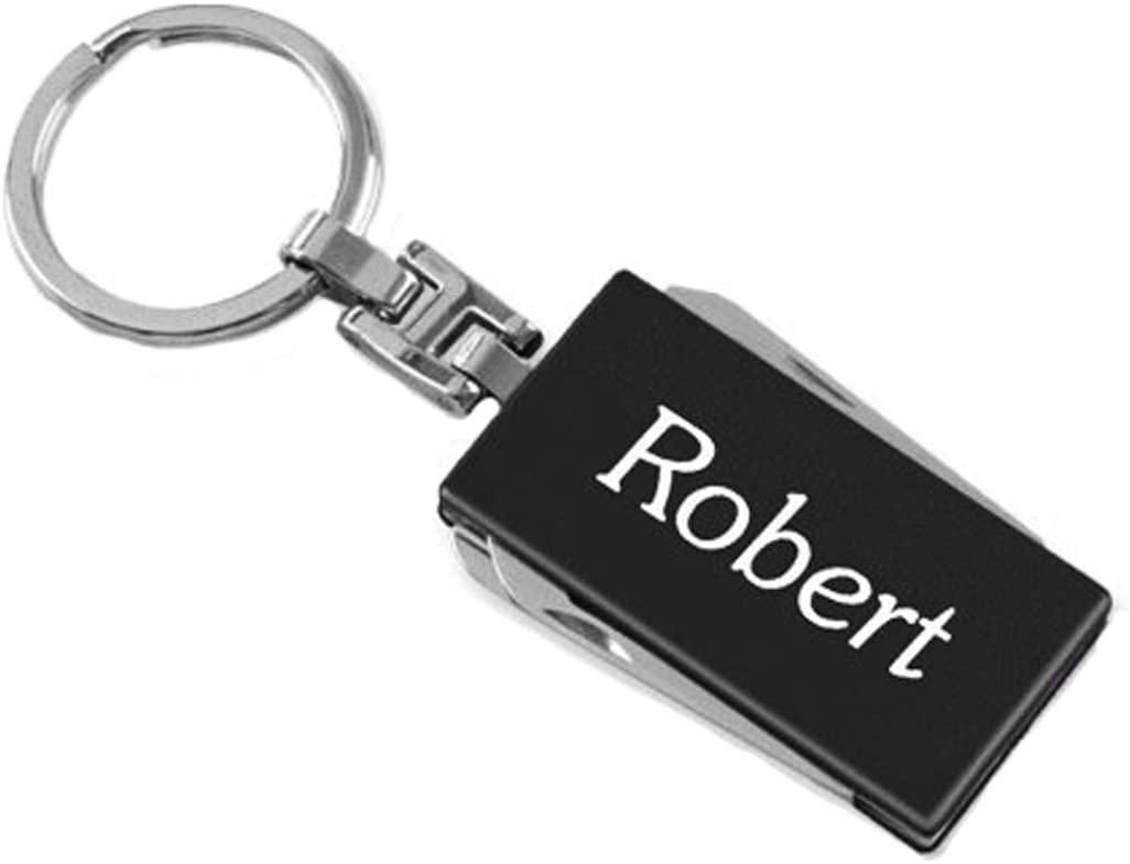 Gifts Infinity Personalized Car Or House Keychain - Free Laser Engraving (Multi Tool, Black)