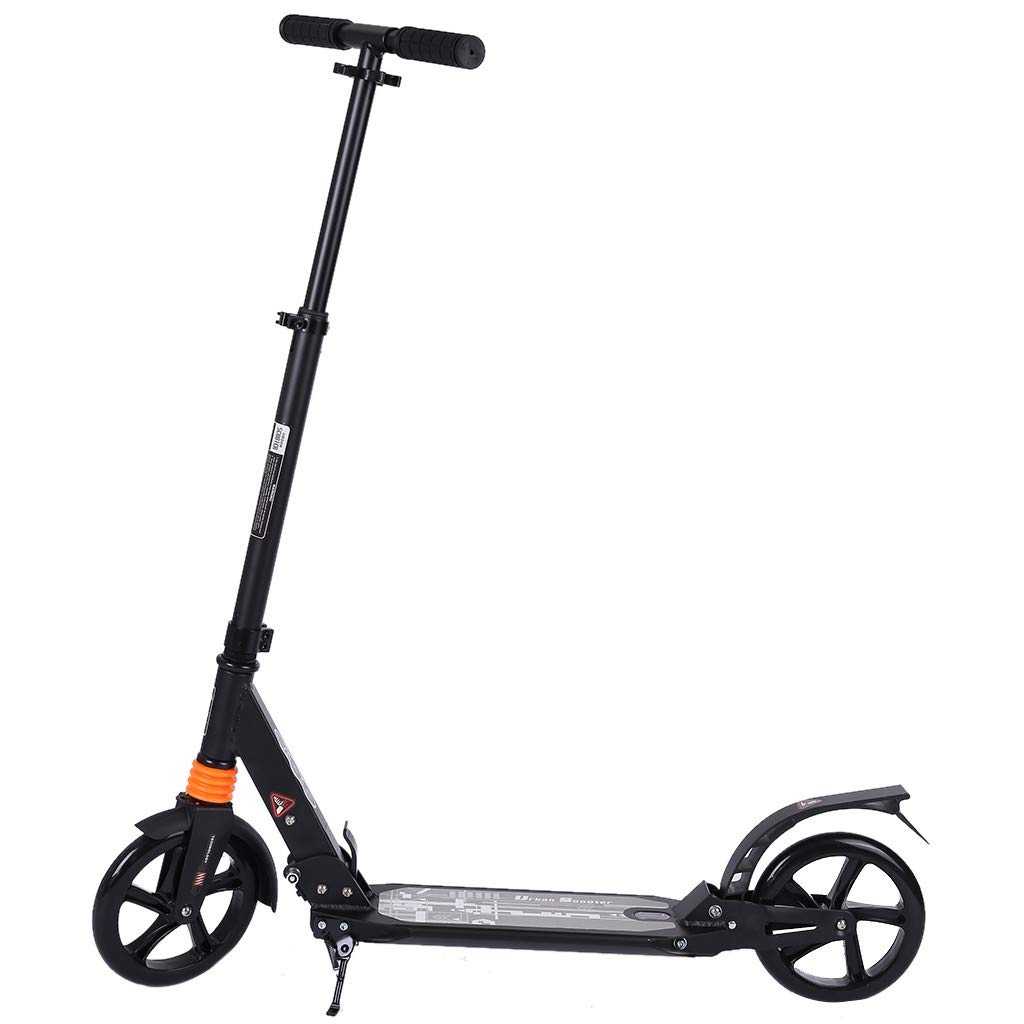 Adult Scooter, Height Adjustable and Oversized Wheels, Youth Folding Scooter