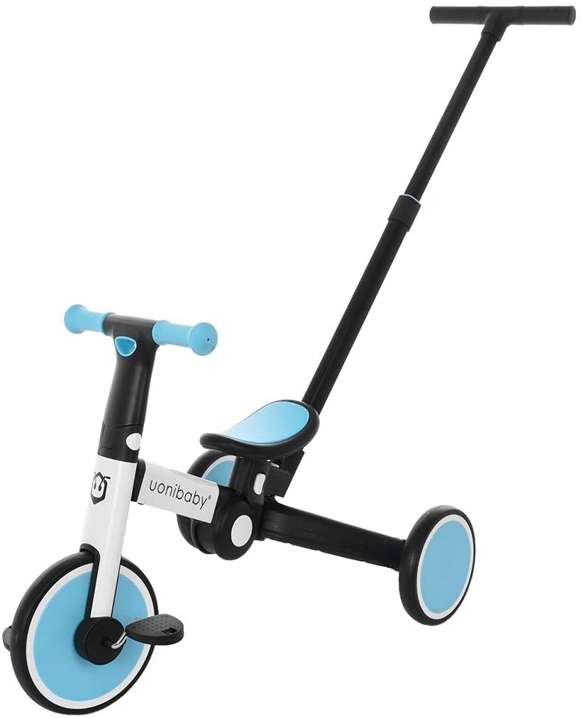 No Brands Sanycool Foldable Toddler Bike with Removable Push Rod,Toddler Trike,Sliding Bike,Wo-Wheel Balance Bike for 1-3 Years Old Kids,Tricycle for Boys Girls,Balance Bike