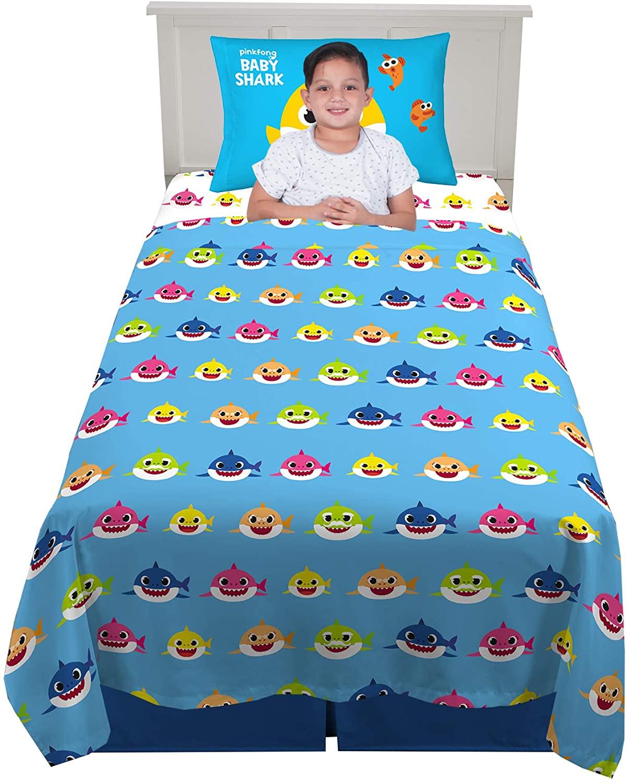 Franco Kids Bedding Super Soft Sheet Set, 3 Piece Twin Size, Baby Shark