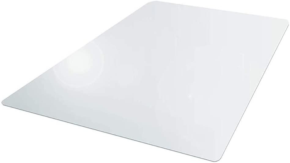 Chair Mat, Clear Chair Mat with Lip for Hard Floors, Non Slip Computer Chair Mat Wear Resistant Foldable Rectangular Computer Carpet Mats for Home Office