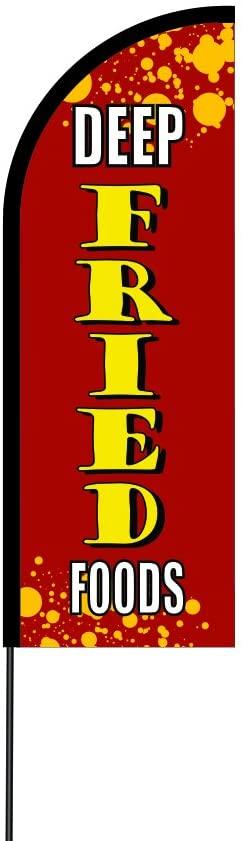 The Curbie Deep Fried Foods Feather Flag Flex Banner Carbon Composite Pole Kit, 11 (8K-8D53-WGMH)