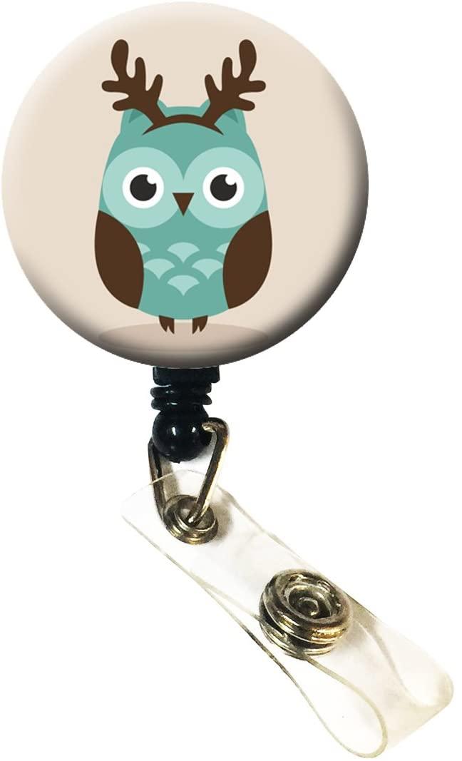 Wigspedia Christmas Xmas Tin Owl ID Name Badge Retractable Reel (#4. Green Owl)