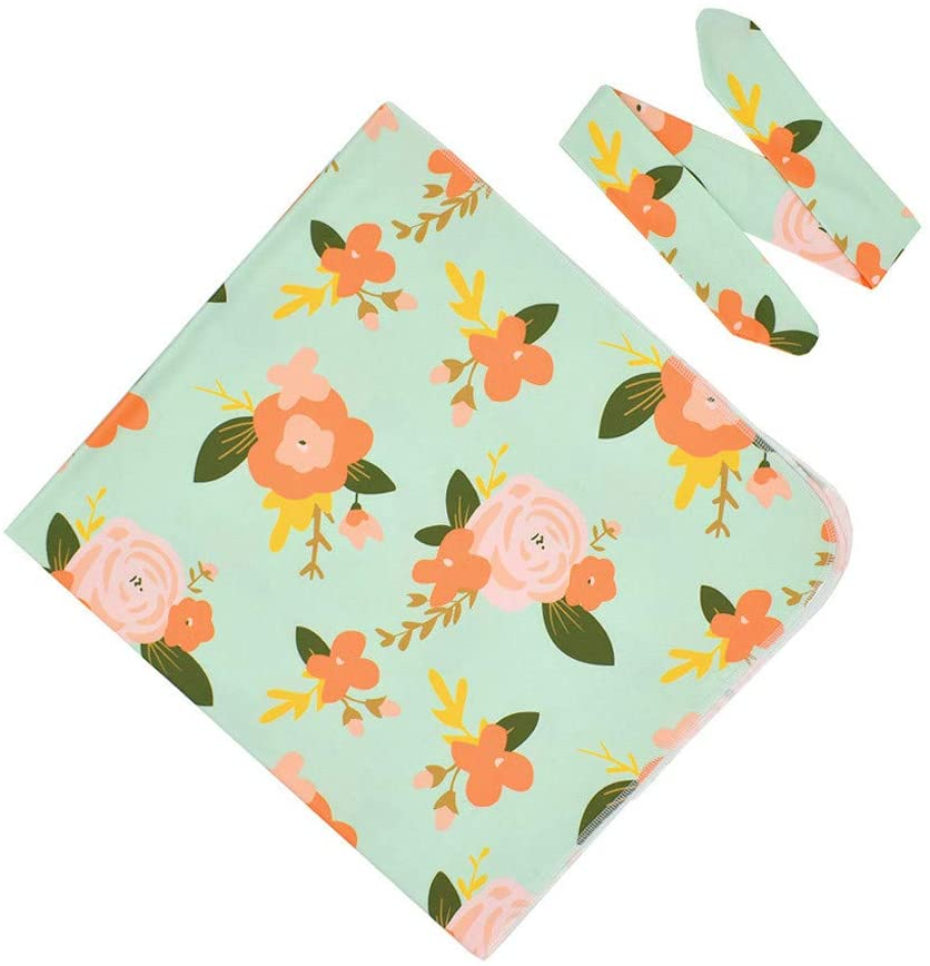 Fineday Baby Care, Newborn Infant Baby Blanket Receiving Blanket Swaddle Wrap Headbands Outfits, Kids and Mother Products (D)