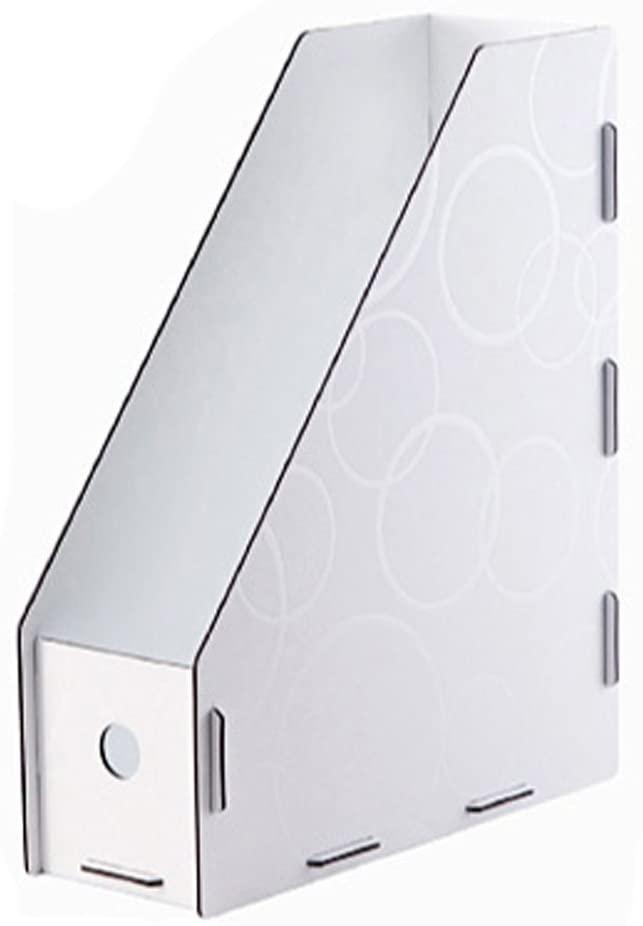 Office Desktop Folder Organizer Rack/File Storage, White