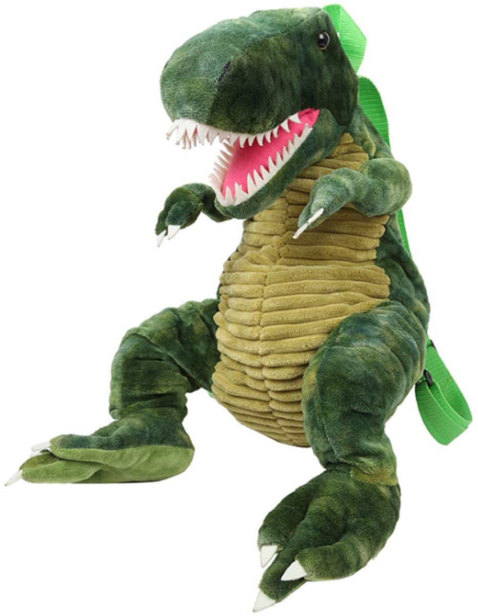 3D Stuffed Dinosaur Backpack,Dino Animal Plush Sloth Bag Toys Bookbag Anti-Theft schoolbag for Toldder Teens Children's Day Gift