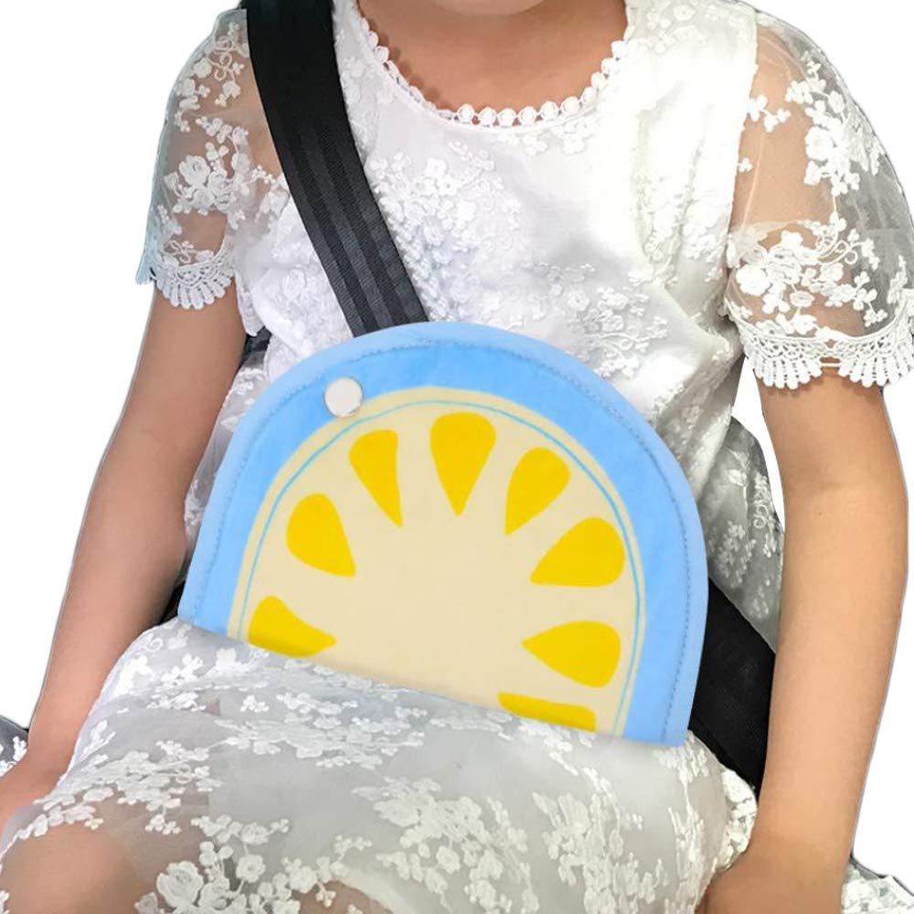 Car Kids Seat Belt Adjuster Belt Strap Protector Pad Harness Strap Adjuster for Chirdren Safety (Adjustable, O)