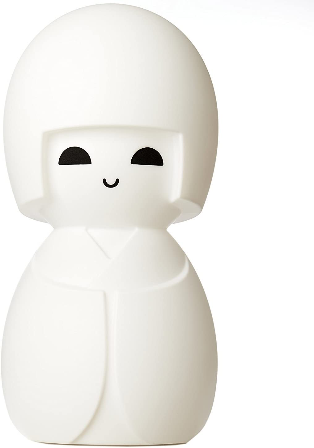 Kokeshi White LED Soft Glow Japanese Doll Lamp with Dimmer, 24 Inches Tall