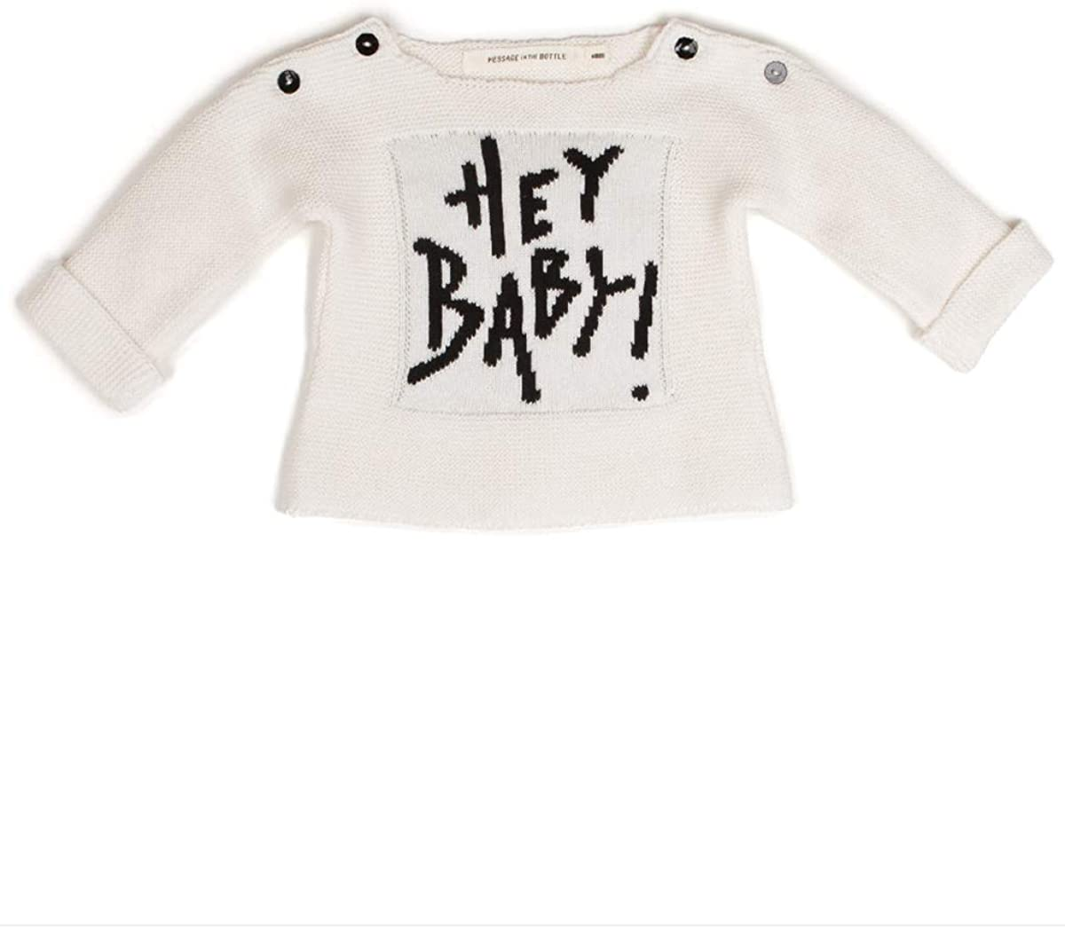 Message in a Bottle Hey Baby Ivory Sweater 9 Mos