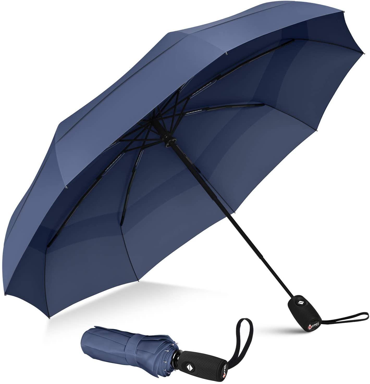 Repel Windproof Travel Umbrella with Teflon Coating