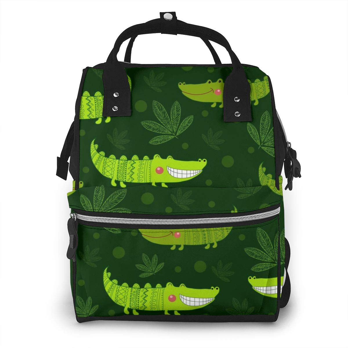 Cute Crocodile LeafDiaper Bag Bookbag School Shoulder Multi Functional Stylish Large Backpack Capacity Nappy Bags Mummy Durable Travel