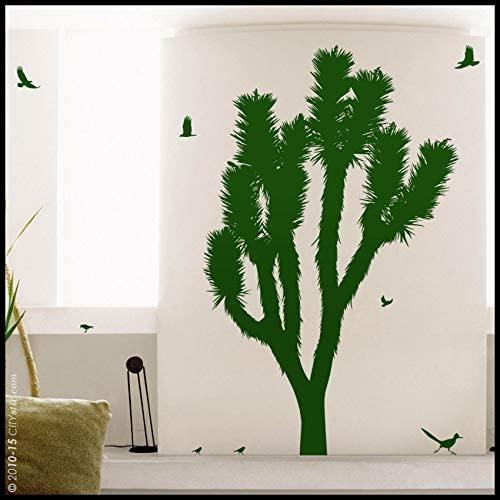 AmericanVinyl Wall Decals Sticker Joshua Tree Decal : Joshua Tree Cactus-Tree with Blossom Desert Flora Kid Nursery playroom