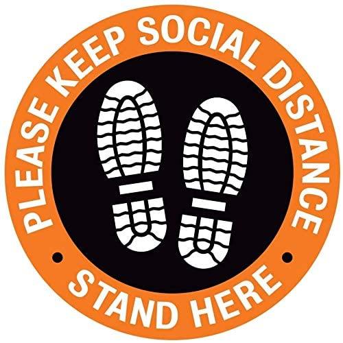 Social Distancing Floor Decals - Please Keep Social Distance Floor Stickers - 8