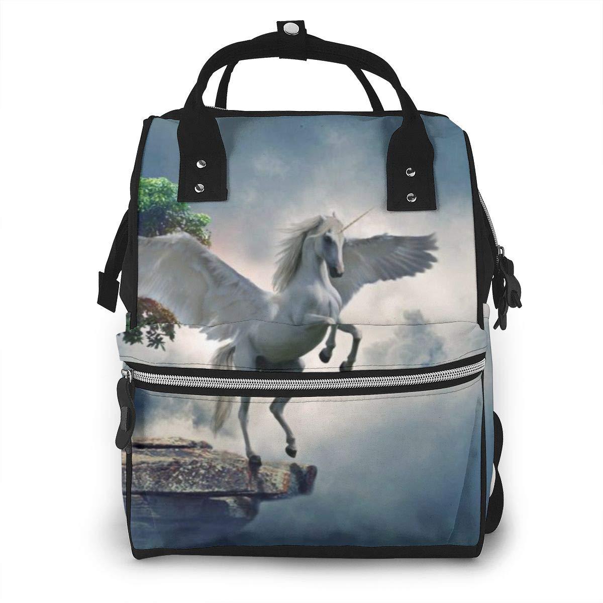 Pegasso Unicorn Tree Large Capacity Diaper Nappy Travel Nursing Bag Mummy Mom Backpack Laptop Multi-Function for Baby Care Women Family