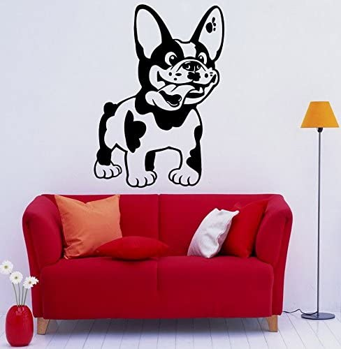 Happy Puppy Wall Decal Vinyl Sticker Dog Art Wall Removable Nursery Kids Room Decor (35nry3)