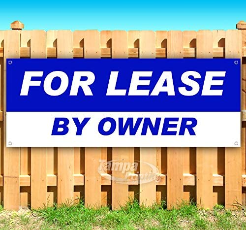 for Lease by Owner 13 oz Heavy Duty Vinyl Banner Sign with Metal Grommets, New, Store, Advertising, Flag, (Many Sizes Available)
