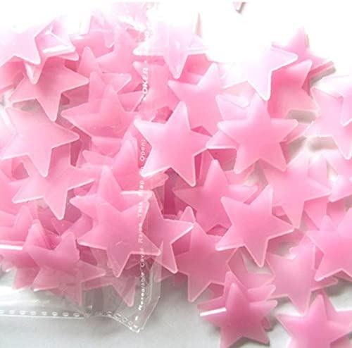 Ywoow 100PC Kids Bedroom Fluorescent Glow in The Dark Stars Wall Stickers, Christmas Decor Tree Ornaments