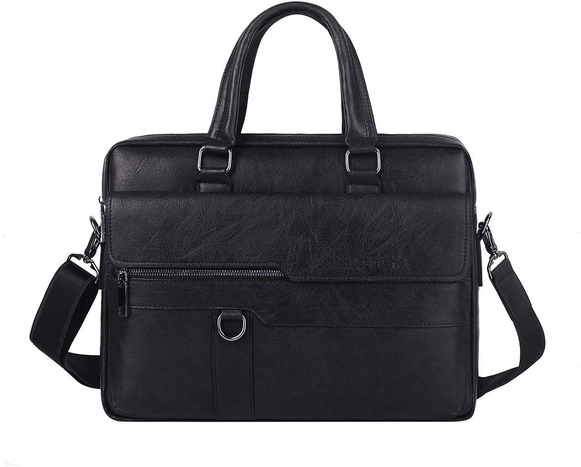 Leathario Leather Men's Shoulder Bag Retro Men's Bag Leather Handbag Crossbody Bag Messsenger Bag Personality Briefcase
