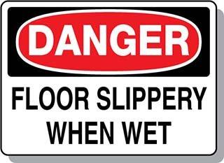 Beaed - DANGER Floor SliPersonal Protective Equipment Signsry When Wet