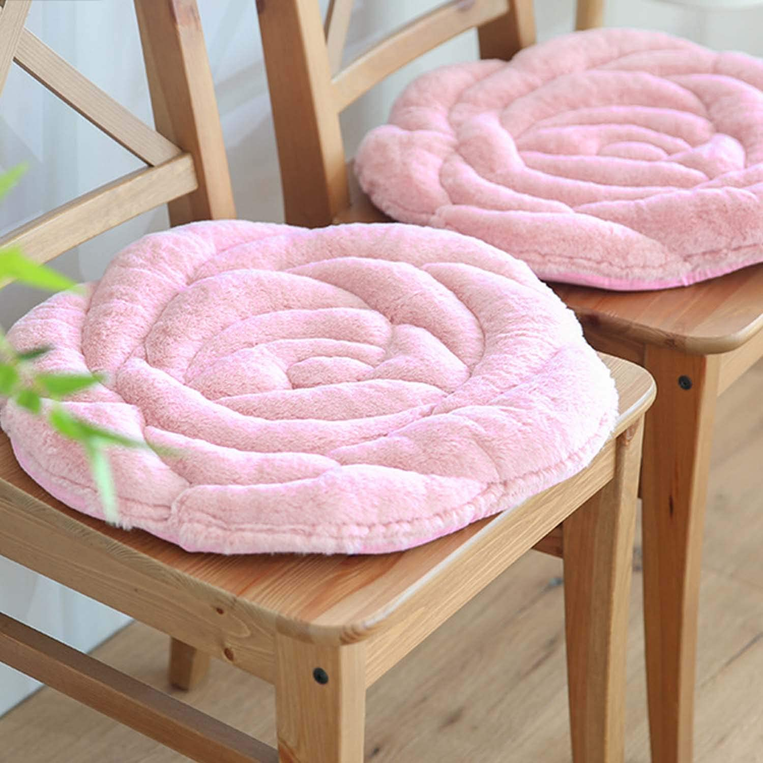 JINTN Warm Plush Seat Pad Rose Crown Shape Thick Soft Sofa Car Chair Pad Tatami Seat Cushion Winter Mat Decoration for Home Dorm Office Dining