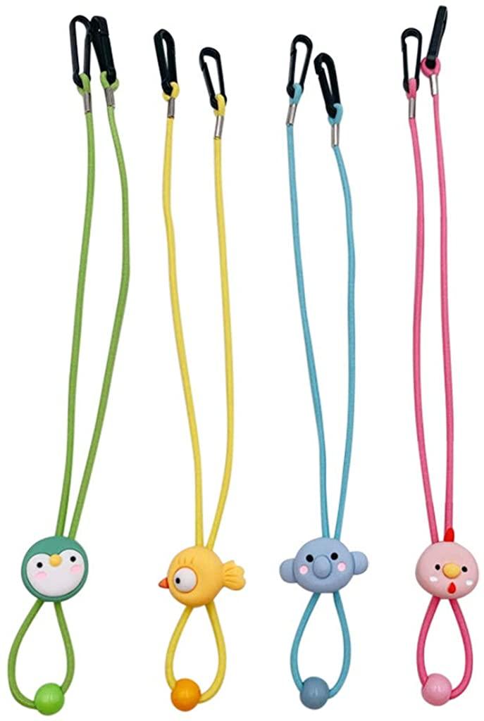 4Pcs Kids And Adults Adjustable Length Face Lanyard Bandanas String Handy And Ear Holder Rope,Beautiful