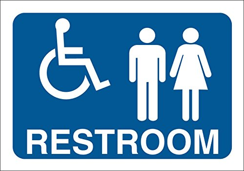 Brady 123883 Restroom Sign, Legend