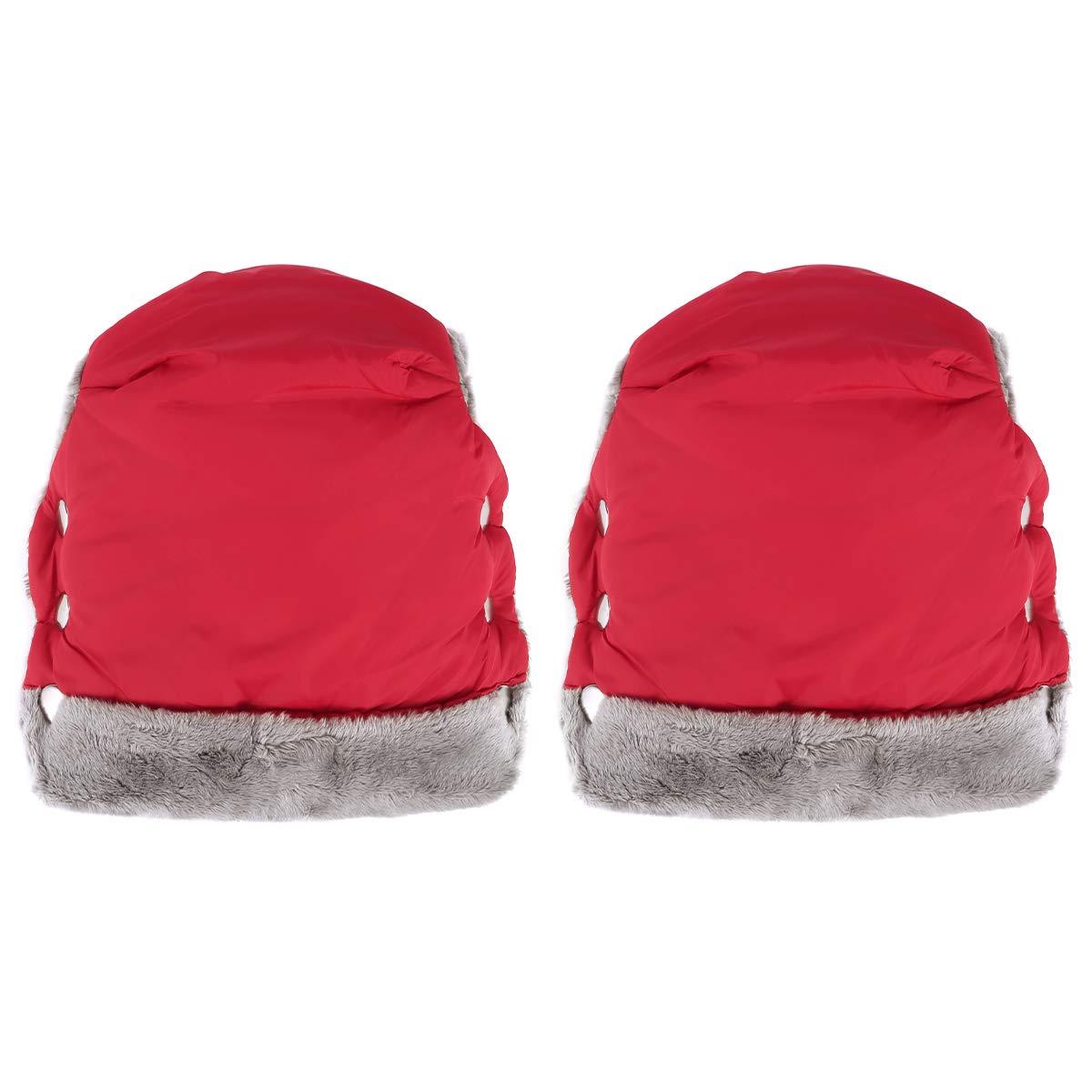 SunshineFace Stroller Hand Muff, Winter Waterproof Hand Warmer Baby Stroller Pushchair Mittens with Universal Fit