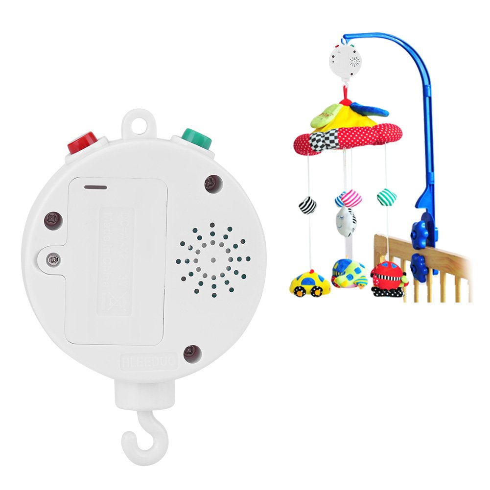 Baby Musical Crib Mobiles Toys Baby Bed Bell Electric Music Box with 12pcs Sweet Melodies