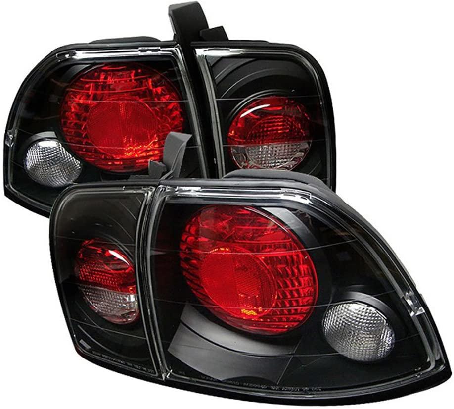 VIPMOTOZ Altezza Euro Style Tail Light Lamp For 1996-1997 Honda Accord - Black Housing, Driver and Passenger Side