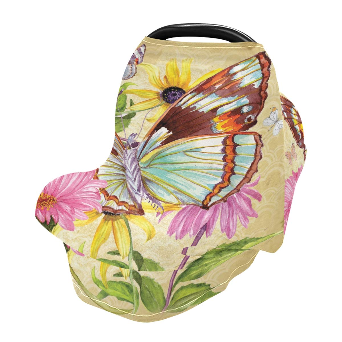 Nursing Cover Breastfeeding Scarf Butterfly - Baby Car Seat Covers, Infant Stroller Cover, Carseat Canopy for Girls and Boys(810b)