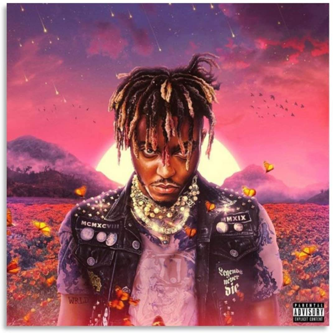 Juice Wrld Album Cover 5fu Poster Decorative Painting Canvas Wall Art Living Room Posters Bedroom Painting 12x12inch(30x30cm)