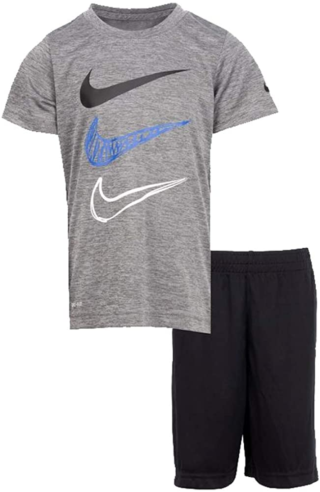 Nike Dropsets T-Shirt & Shorts Set Little Boy's 2-Piece Dri-FIT